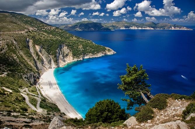 Die schönsten Strände Griechenlands: Strand von Myrtos, Insel Kefalonia