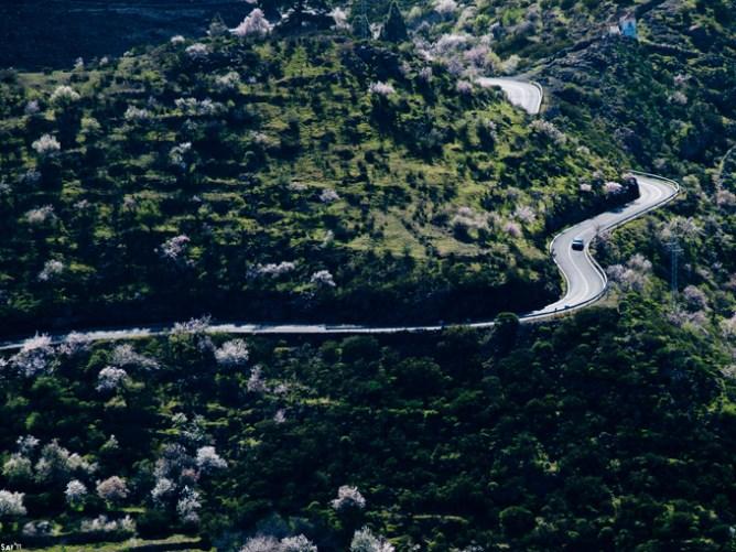 Aμάξι ανεβαίνει σε βουνό της Τενερίφης, Κανάρια Νησιά