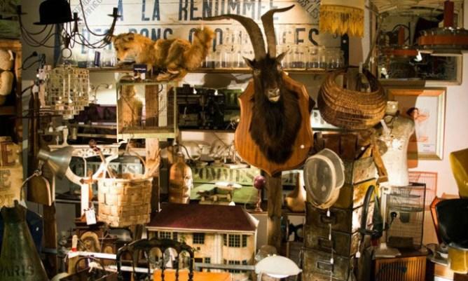 Eccentric decorations in a traditional Irish pub