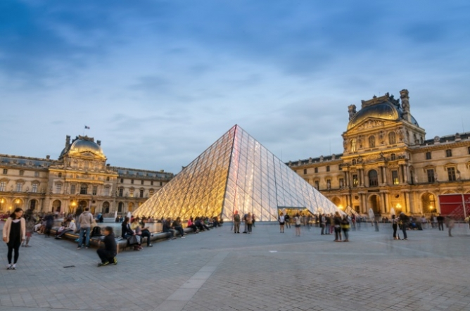 the outside of the Louvre Museum in Paris