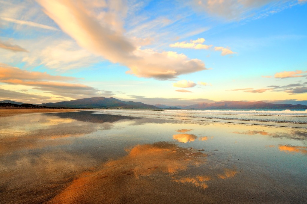 Brandon Bay at sunset - one of the top 10 beaches in Ireland