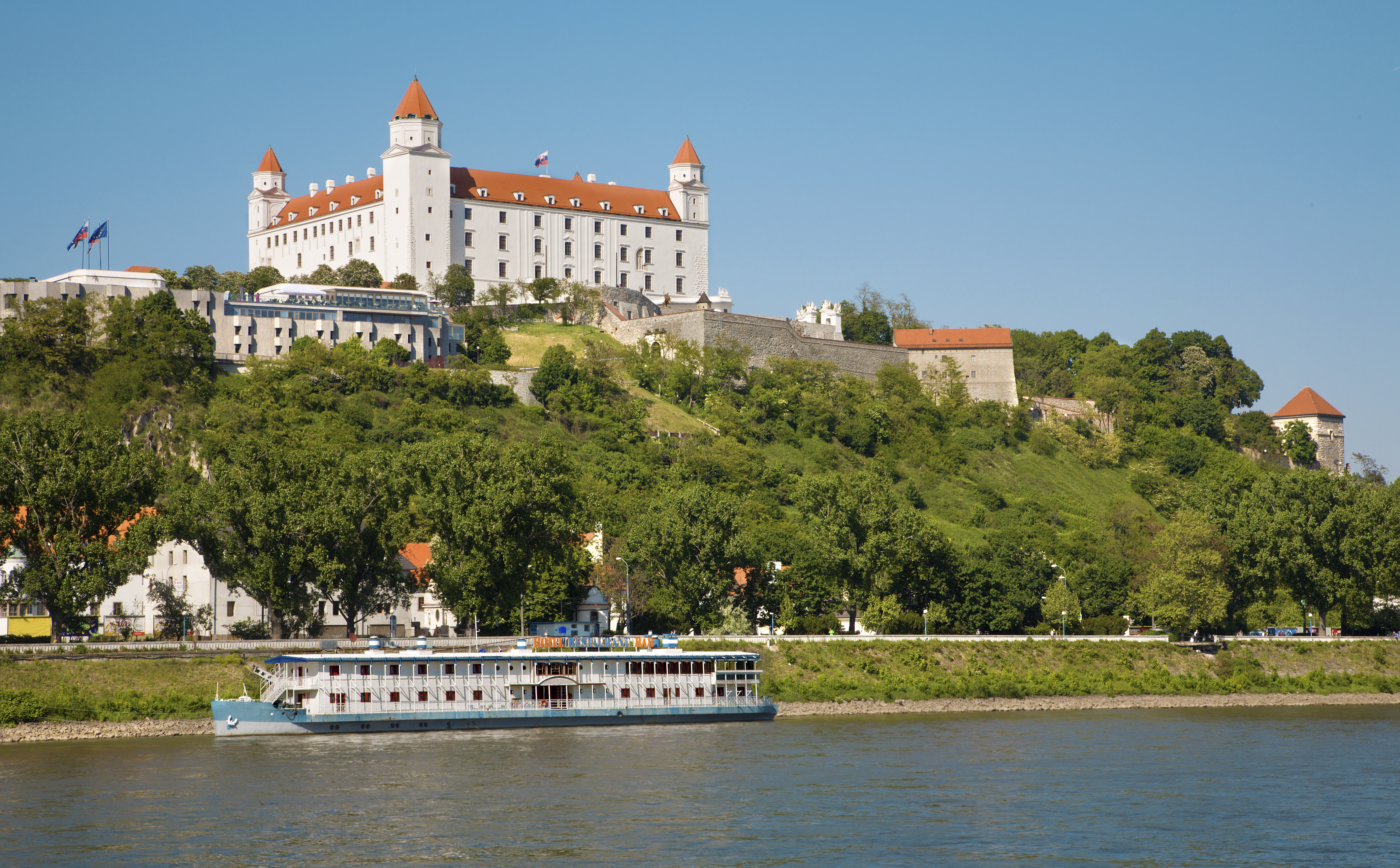 Bratislava castle by the Danube