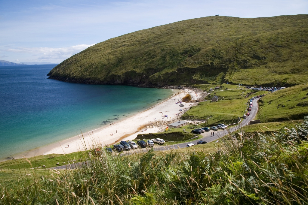 View of Keem Bay on Achill Island, County Mayo