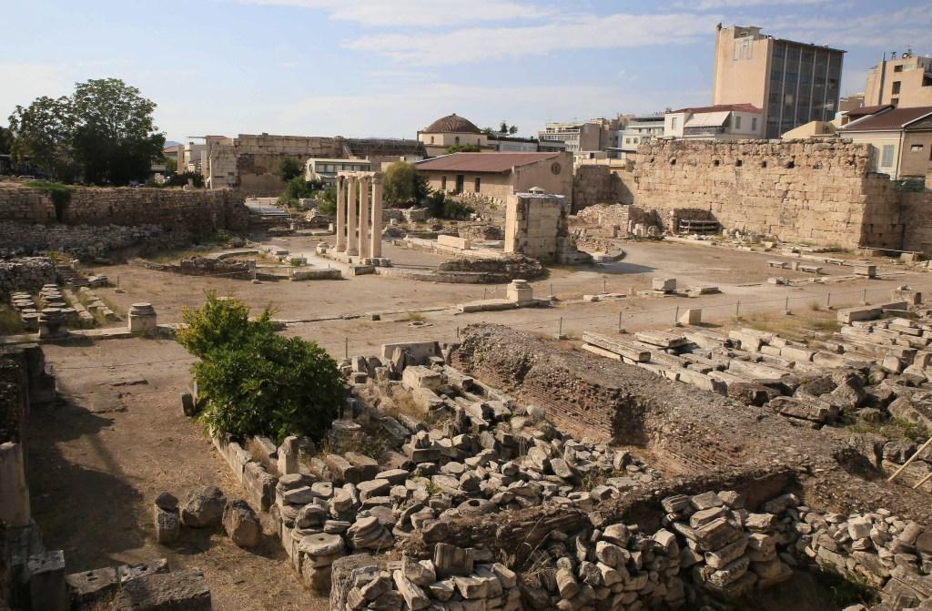 The Roman Agora in Athens, Greece.