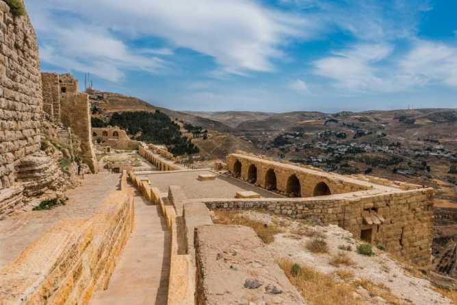 Το κάστρο Αλ Καράκ στην ομώνυμη πόλη της Ιορδανίας