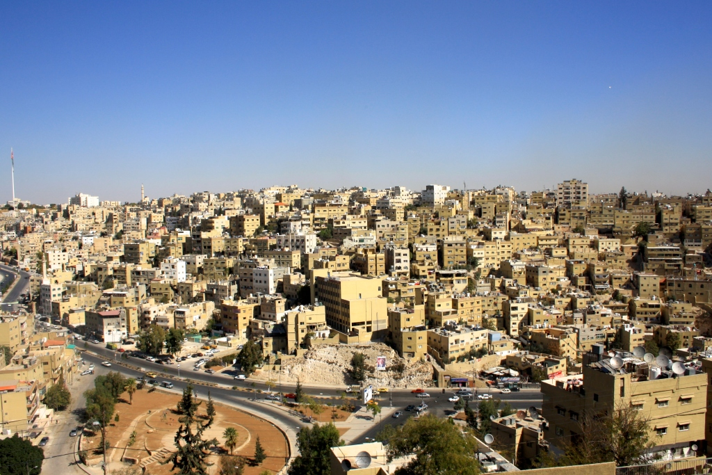 Η θέα του Αμμάν από ψηλά.