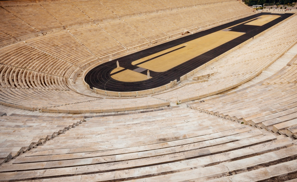 The Panathenaic Stadium in Athens, Greece.
