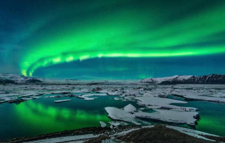 Mejores paisajes para fondo de pantalla: aurora boreal