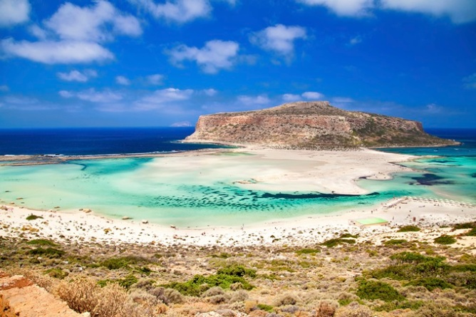 Azure waters in Balos, Crete