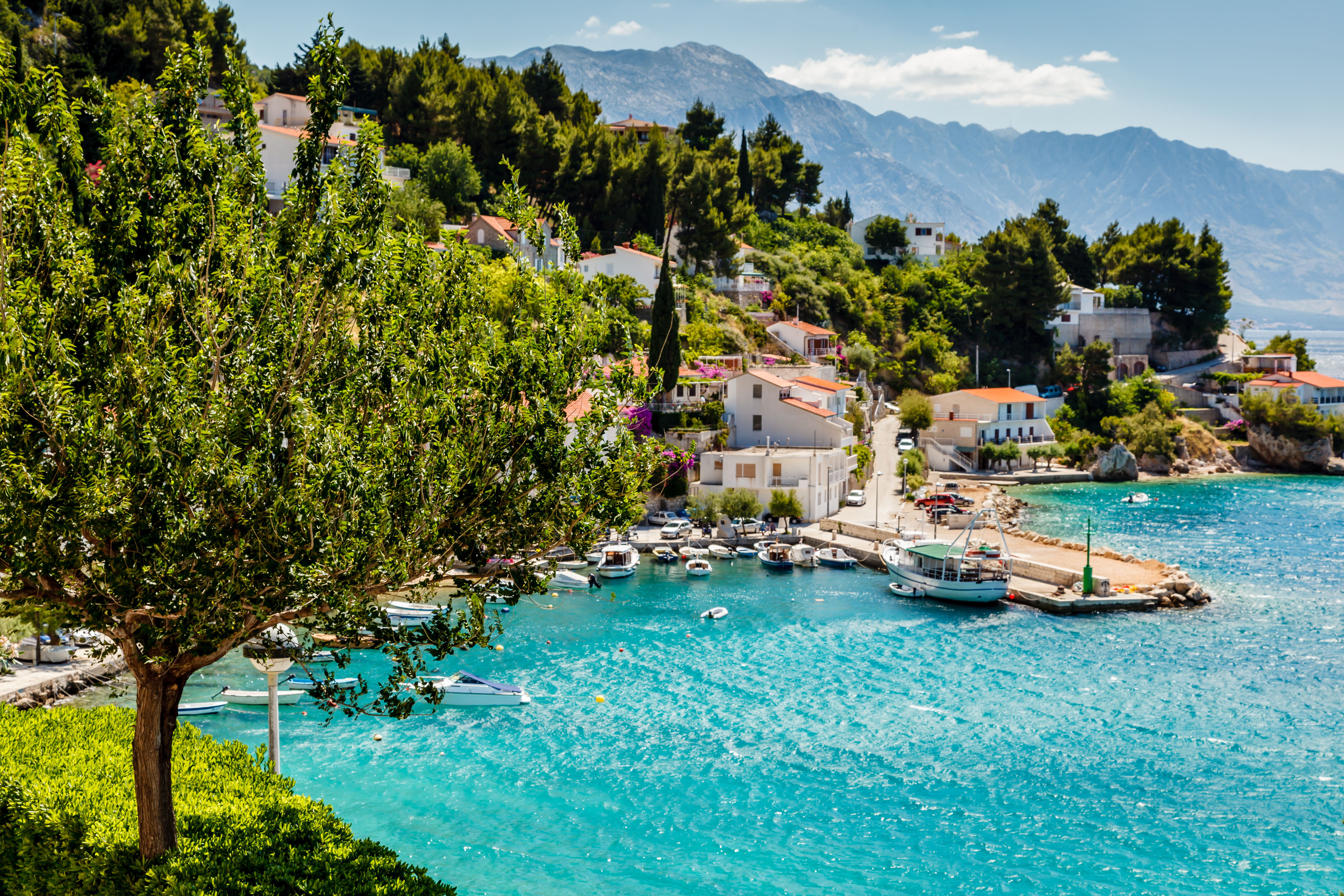 Idyllic scenery for a low-cost summer holiday in Croatia