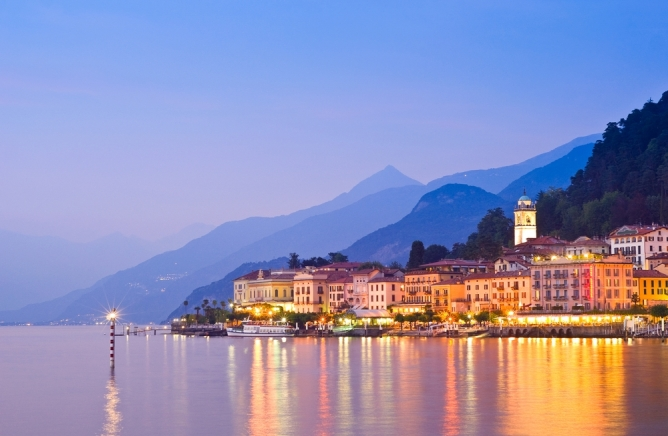 Lake Como, Italy at sunset