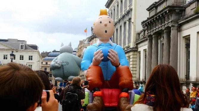 Η παρέλαση των κόμιξ στις Βρυξέλλες