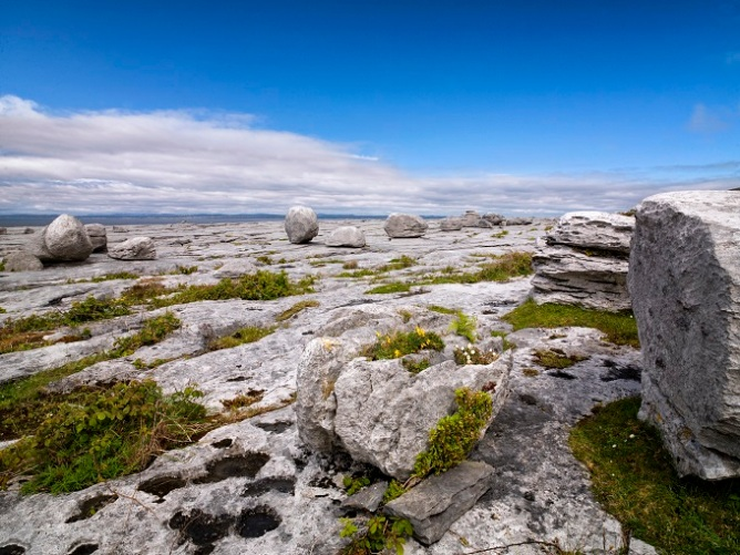 Rocky landscape along the Burren Way