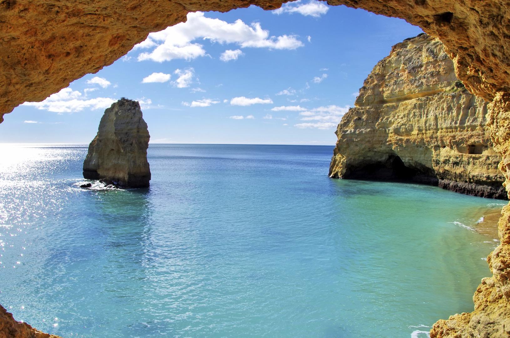 Azure waters in the Algarve