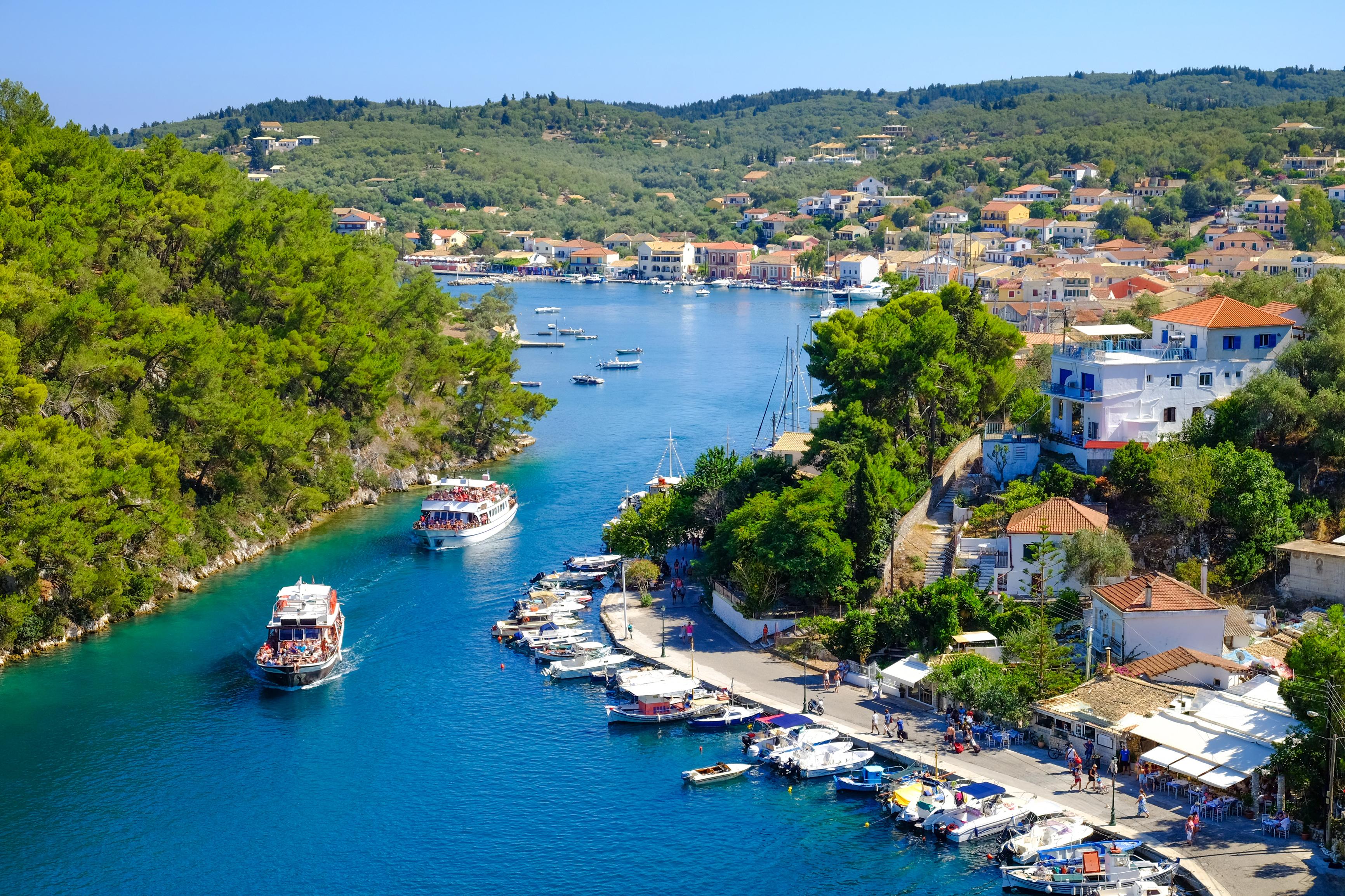 Port in the Greek island of Corfu