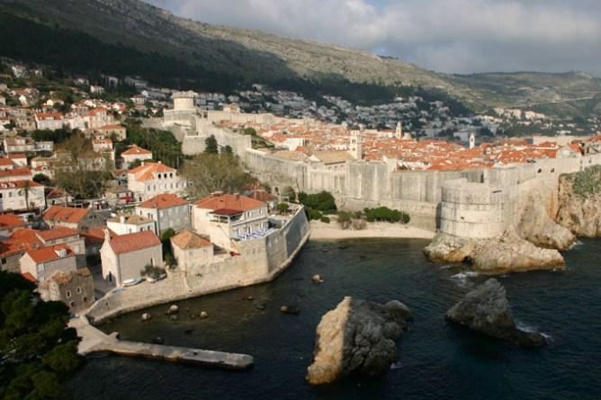 Dubrovnik old city from Lovrijenac Fortress, Croatia