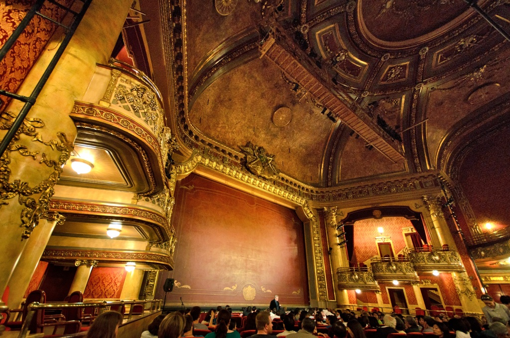 Inside the historic and ornate Elgin Theatre in Toronto.