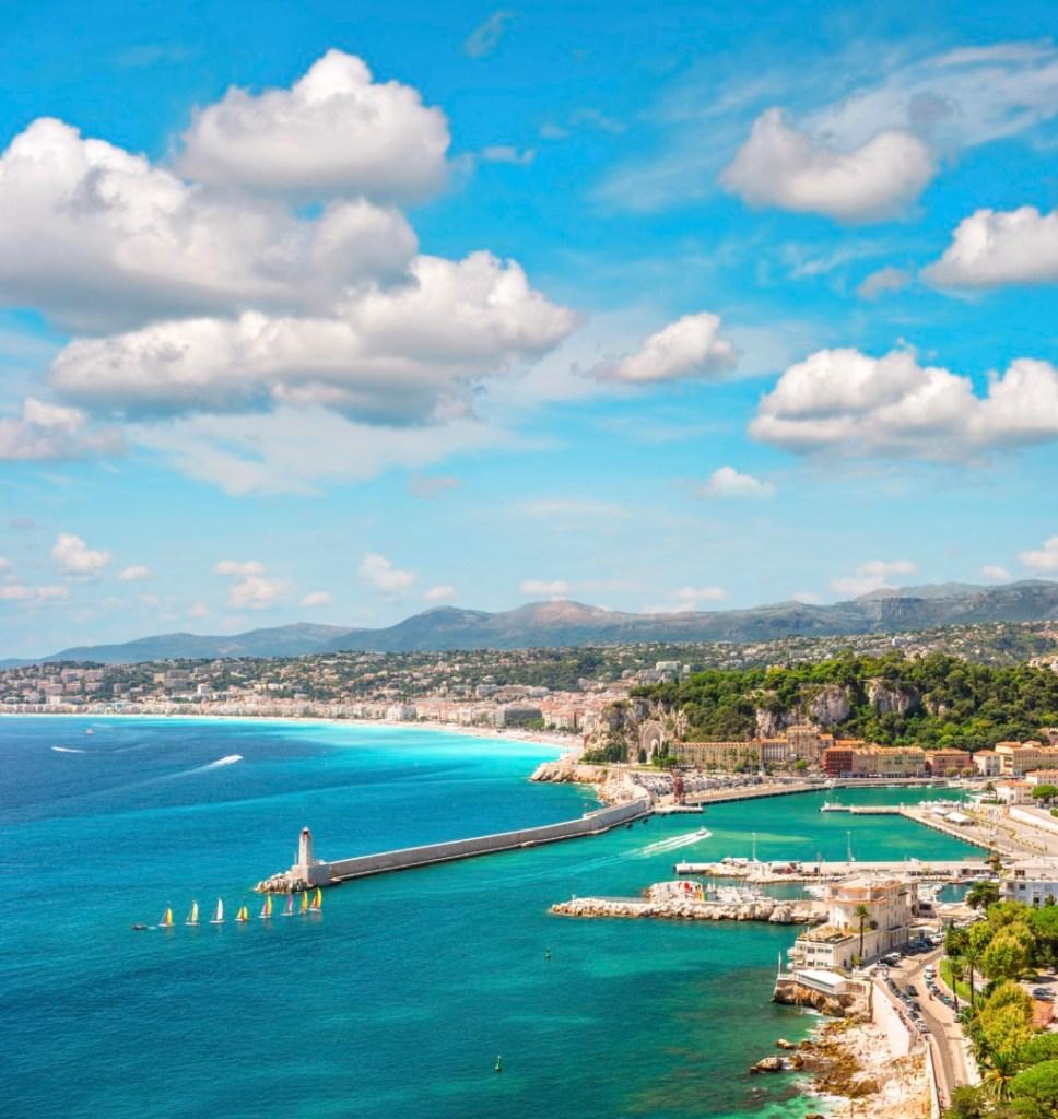 Panoramic view of Nice, French Riviera