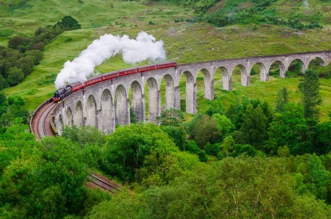 Harry Potter Drehorte: Glenfinnan und die schottischen Highlands