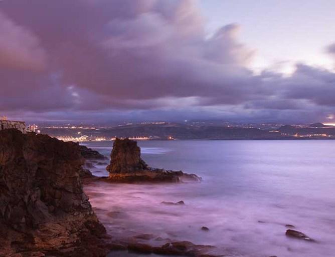 Ηλιοβασίλεμα στην παραλία Λας Καντέρας, Λας Πάλμας, Γκραν Κανάρια