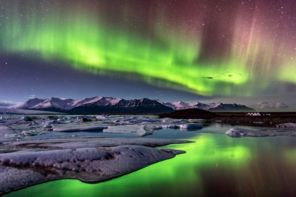 The sky covered in shades of green - best places to see the Northern Lights