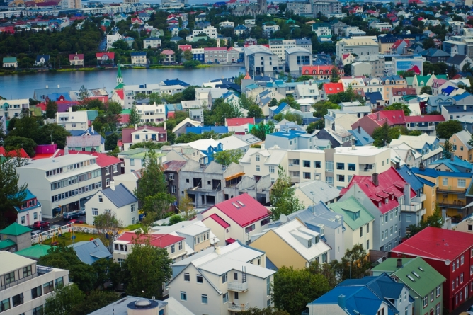 colourful houses in Reykjavik, Iceland