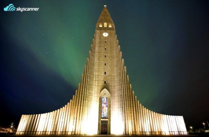 Η εκκλησία Hallgrímskirkja στην πρωτεύουσα της Ισλανδίας, το Ρέικιαβικ