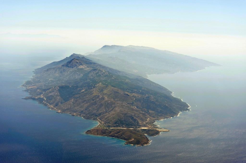 Αεροφωτογραφία της Ικαρίας