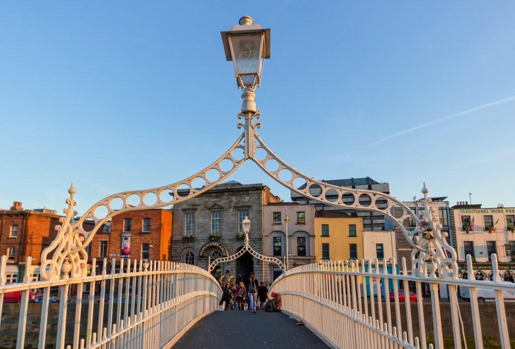 Penny Bridge in Dublin, Ireland