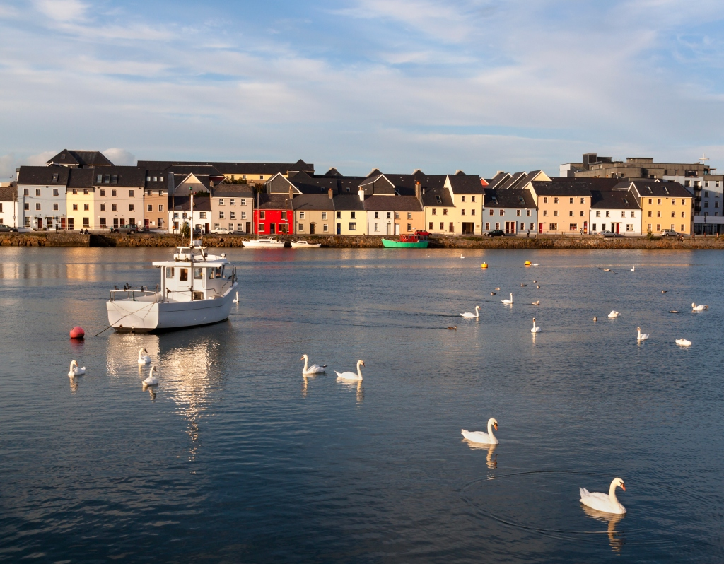 Solo travel to Ireland: Fly to Galway