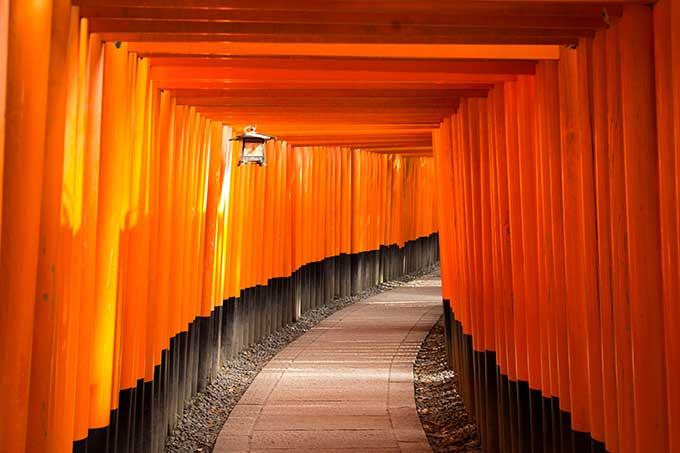 Los mejores paisajes para fondo de pantalla: Fushimi Inari-Taisha en Japón