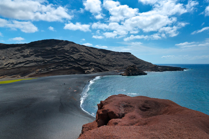 Volcanic beach in Lanzarote, Canary Islands