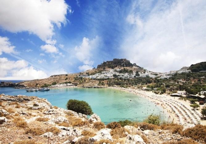 Die schönsten Strände Griechenlands: Strand von Lindos, Rhodos