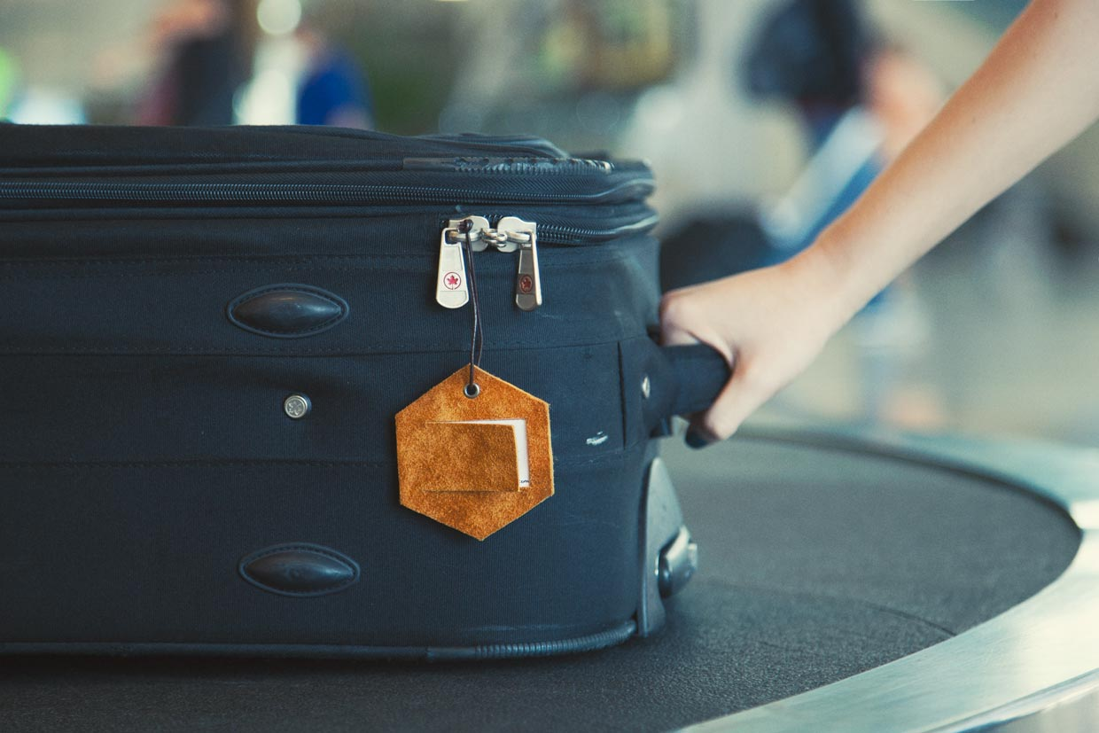 A suitcase being picked up from an airport conveyor belt. Checked Luggage and Carry-on Baggage Rules   Skyscanner Canada