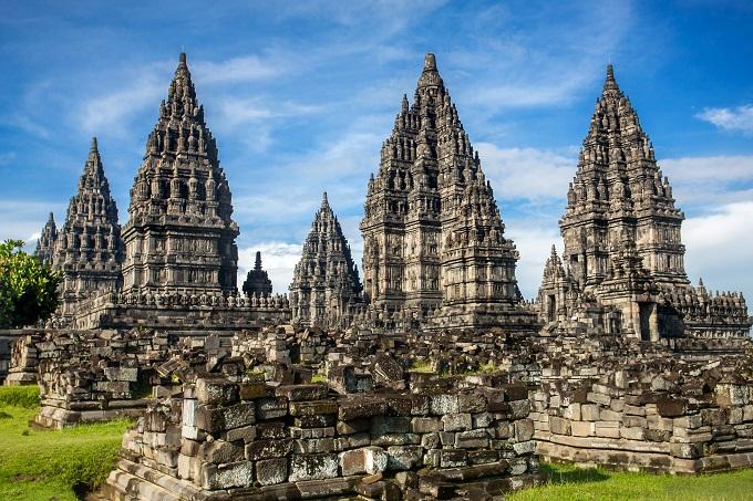 Le temple de Prambanan à Yogyakarta