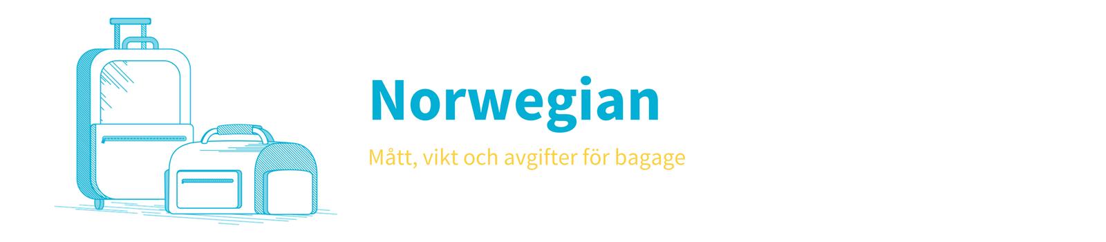 mått för handbagage norwegian