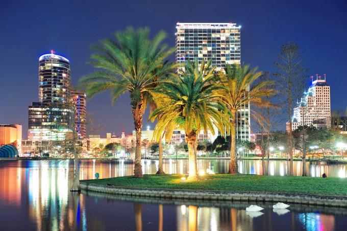 Orlando, Florida at night