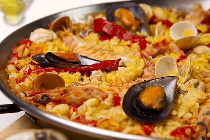 A paella dish