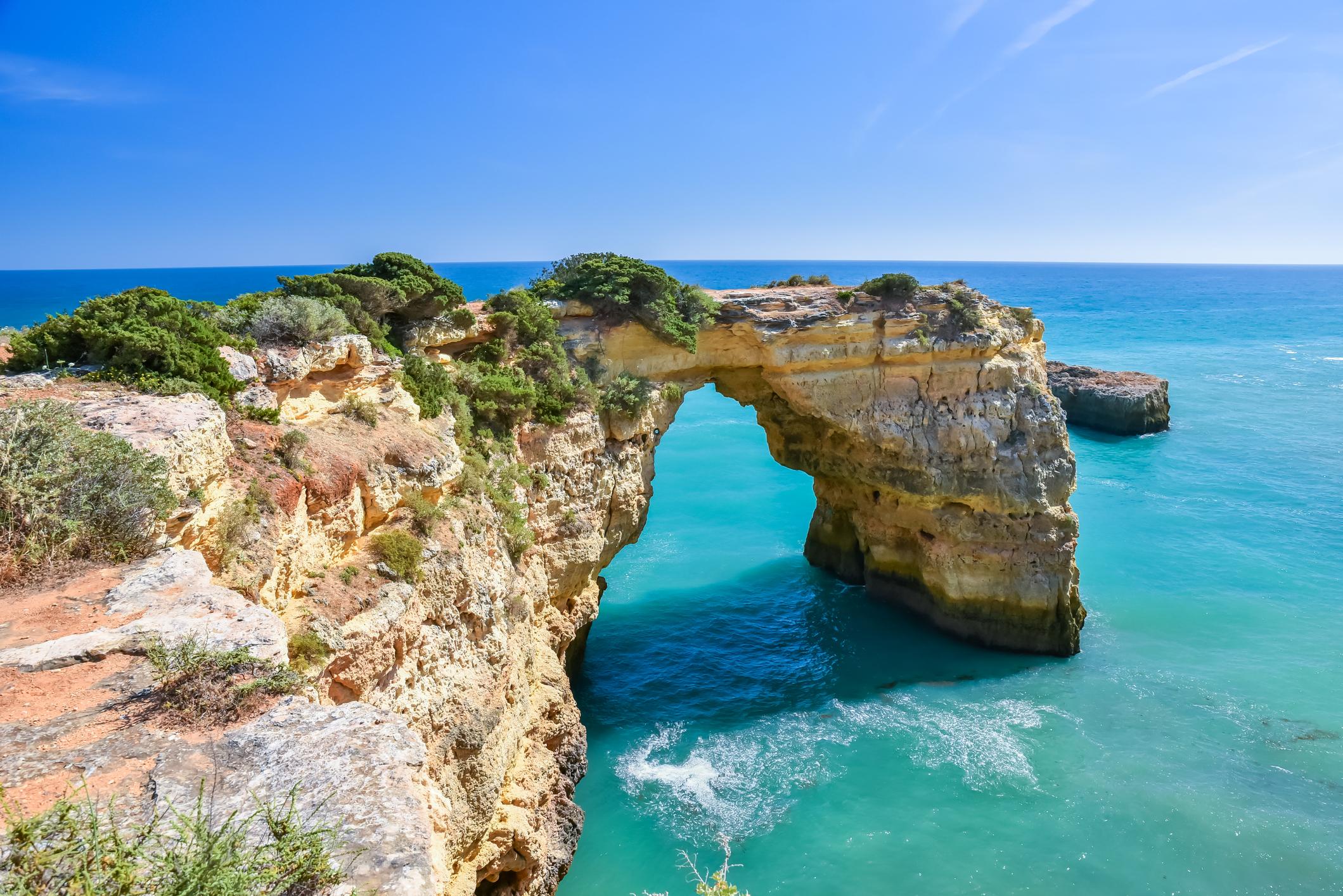 Rock formations in Algarve