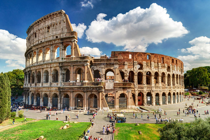 January holiday destinations-Rome Colosseum