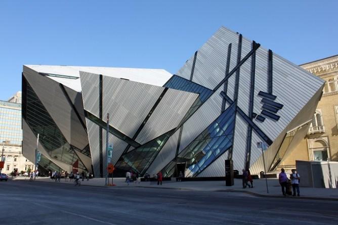 The Royal Ontario Museum viewed from Bloor Street, Toronto.