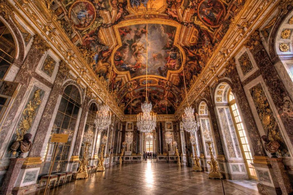 The Hall of Mirrors in the Palace of Versailles