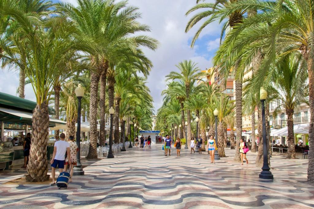 The palm-lined Explanada de España, Alicante