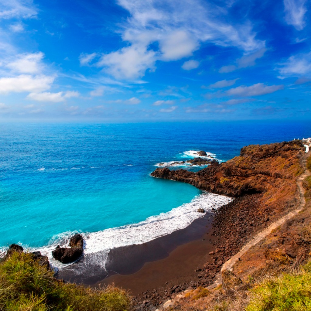 A volcanic beach in Tenerife, Canary Islands