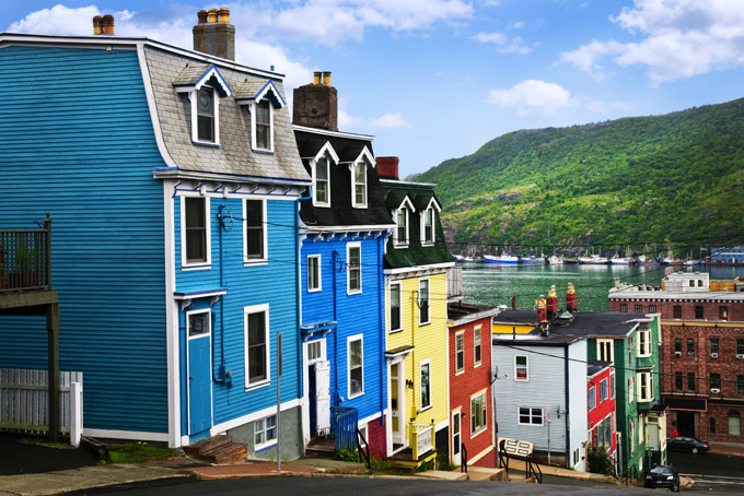 colourful houses in St. John's, Newfoundland. Places to visit in Canada.