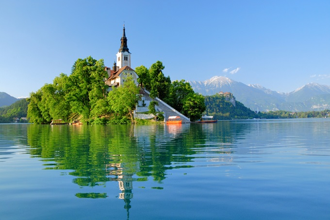 Lake Bled, Slovenia is great for a low-cost summer escape