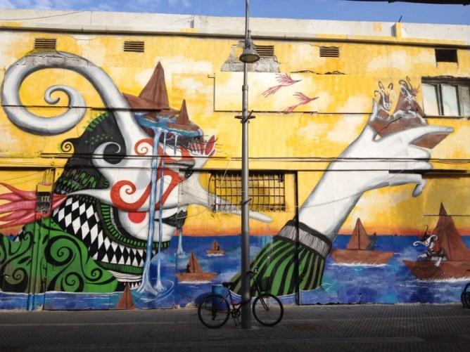 Δρόμος με γκράφιτι στο Τελ Αβίβ, Ισραήλ