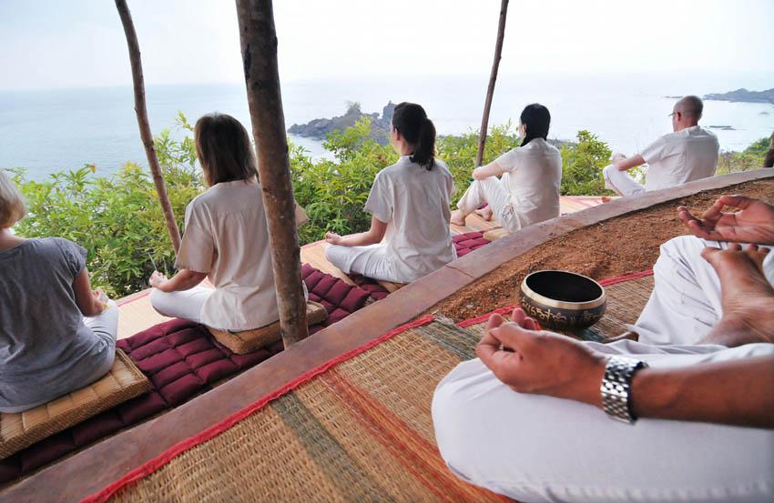 cours de yoga avec vue