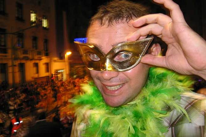 Mασκαρεμένος στο Καρναβάλι της Τενερίφης, Κανάρια Νησιά