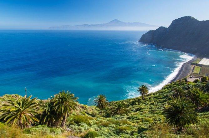 Παραλία στεφανωμένη από φοινικόδεντρα, Τενερίφη